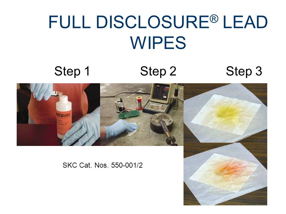 LEAD DETECTION ON SKIN OR SURFACES Developed by U.S.