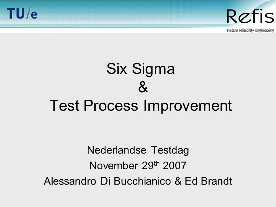 © Refis-TU/e - 2007 Content Process improvement Basics of Six Sigma Six Sigma and CMM, GQM, etc.