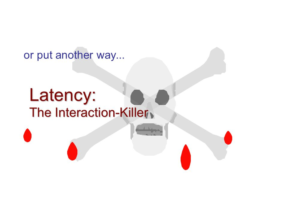 Latency: The Interaction-Killer or put another way...