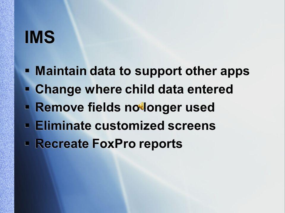 Key Changes  Applications – one framework  Databases – not separate entities  Applications – one framework  Databases – not separate entities