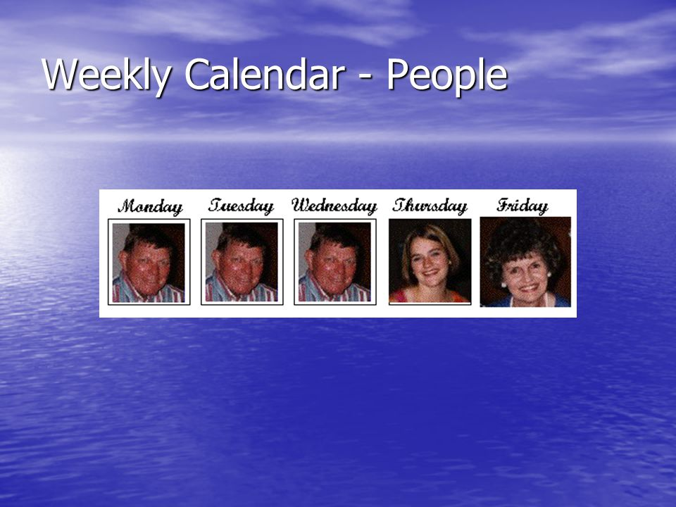 Weekly Calendar - People