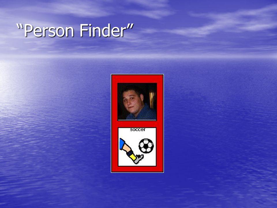 """""""Person Finder"""""""