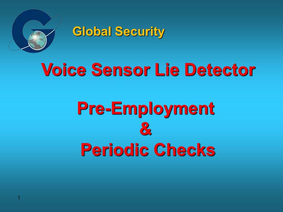 1 Voice Sensor Lie Detector Pre-Employment& Periodic Checks Global Security