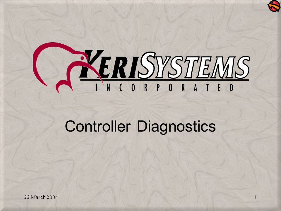 22 March 20042 Topics Covered: Diagnostics that allows you to check basic controller and reader functionality through the address display on the controller and the optional LCD-1 display Controller status LEDs (on-board indicators)