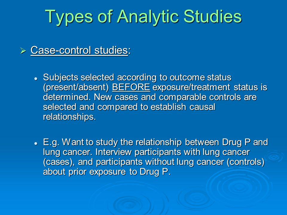 Types of Descriptive Studies  Case report: Detailed description of individual participant.