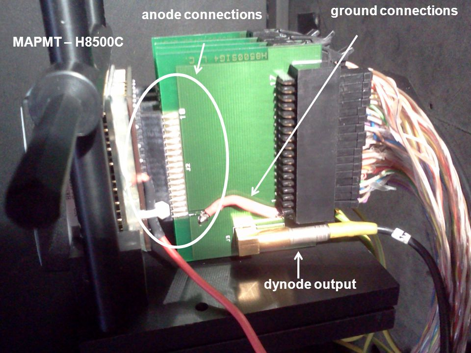 anode connections dynode output ground connections