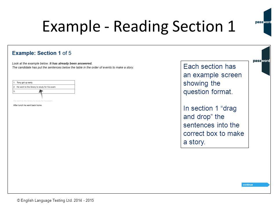 © English Language Testing Ltd.