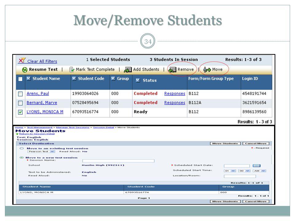 Move/Remove Students 34