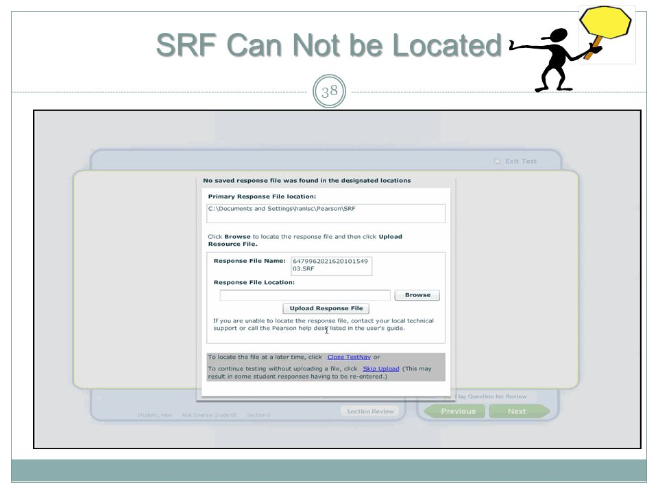 SRF Can Not be Located 38