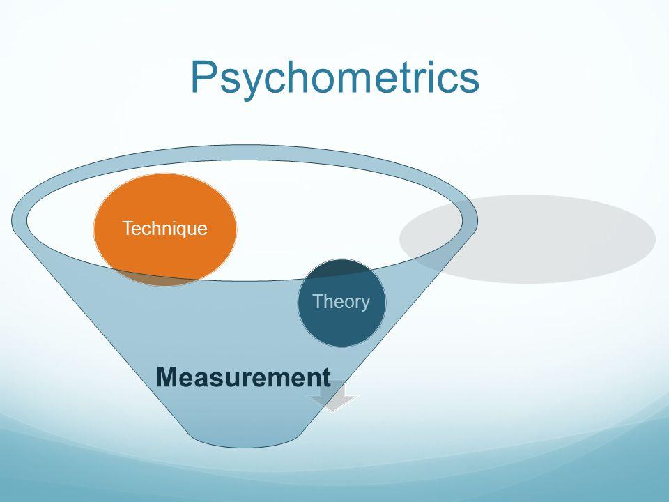 Measurement Theory Technique Psychometrics