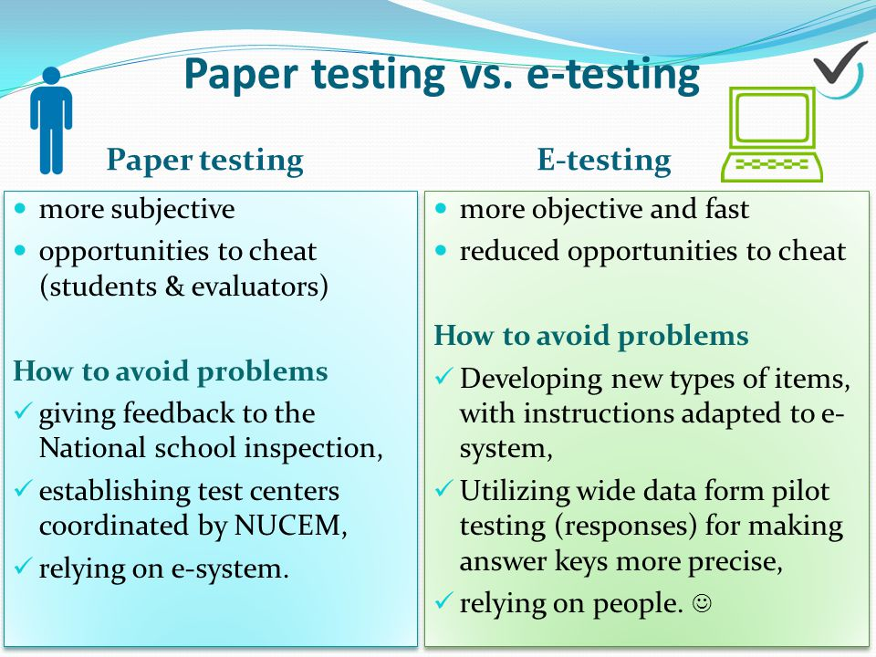 Paper testing vs.