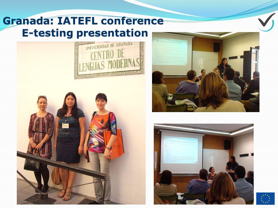 Granada: IATEFL conference E-testing presentation