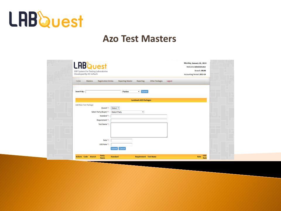 Azo Test Masters