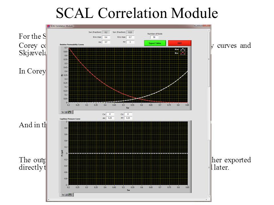 SCAL Correlation Module