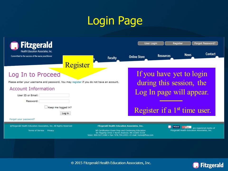 My AssignmentsCH TrackerStudy Resources Click to enter your private portal areas  2015 Fitzgerald Health Education Associates, Inc.
