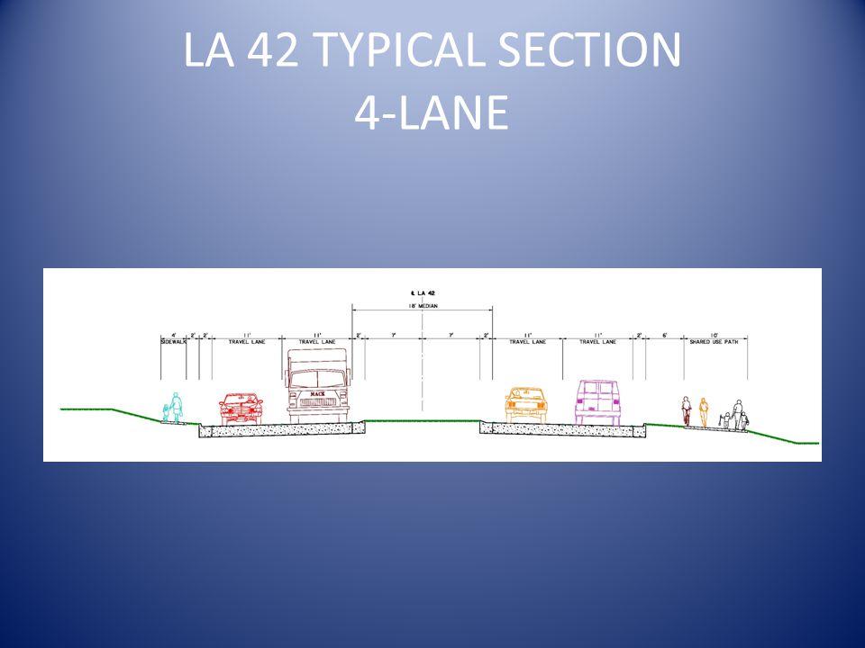 LA 42 TYPICAL SECTION 4-LANE