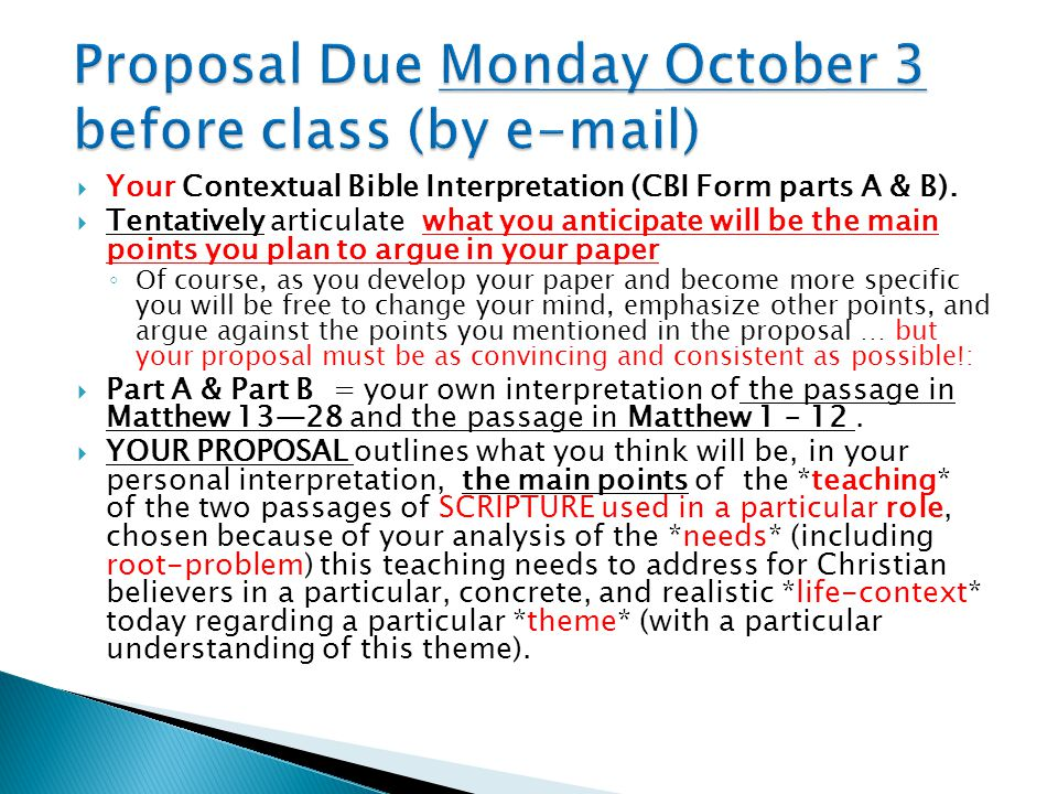  PART C of your PAPER will involve a three way comparison of 1) your interpretation, with 2) a scholarly companion interpretation (close to yours) and 3) one or two diverging interpretation(s) ◦ Chosen in the bibliography on the syllabus.