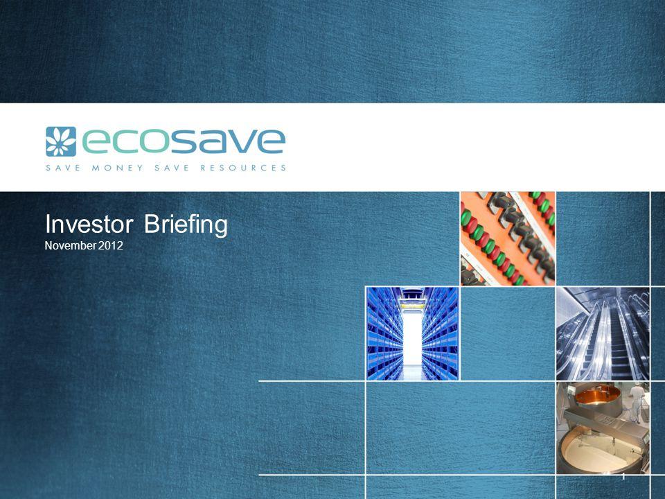 Investor Briefing November 2012 1