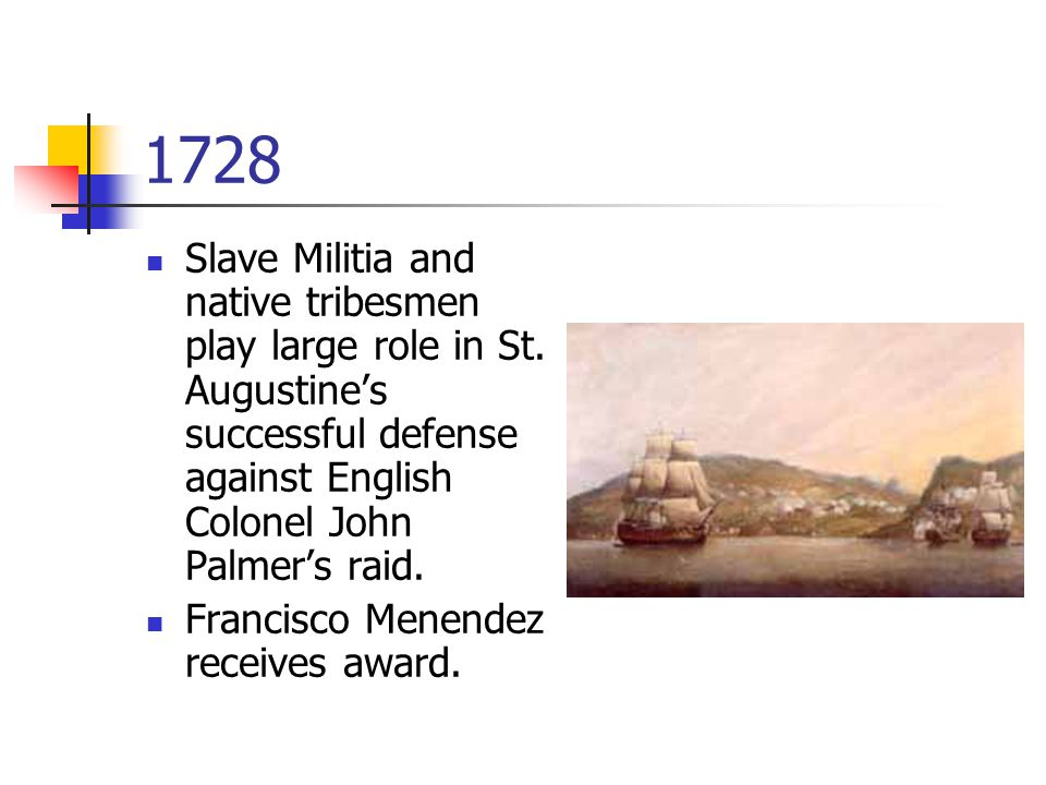 1728 Slave Militia and native tribesmen play large role in St.