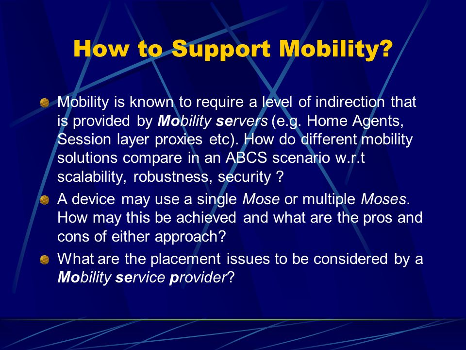 How to Support Mobility.