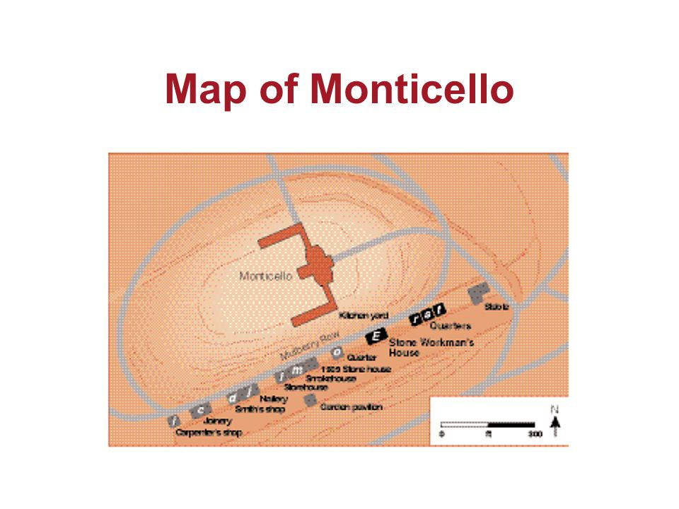 Map of Monticello
