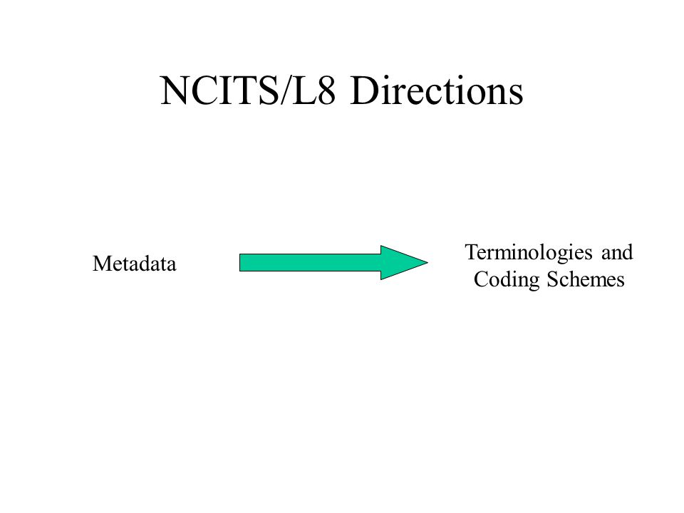 NCITS/L8 Directions Terminologies and Coding Schemes Metadata