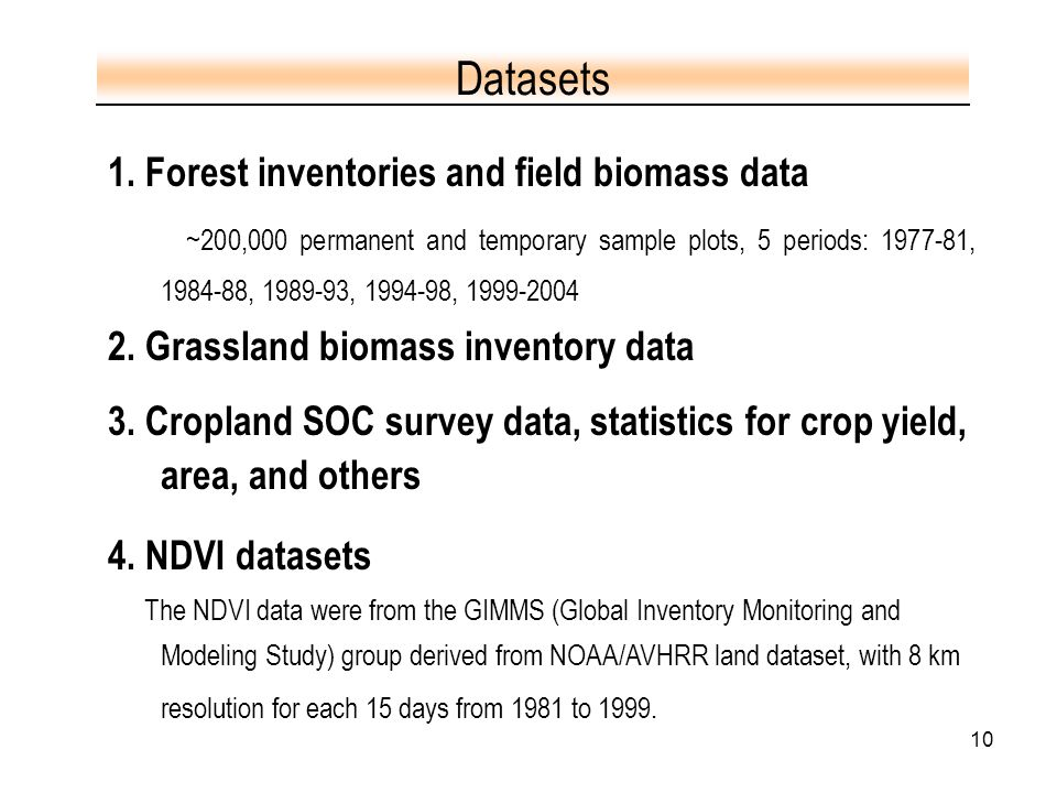 10 1. Forest inventories and field biomass data ~200,000 permanent and temporary sample plots, 5 periods: 1977-81, 1984-88, 1989-93, 1994-98, 1999-200