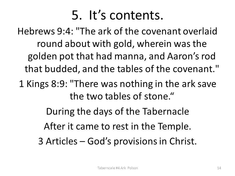 5. It's contents.