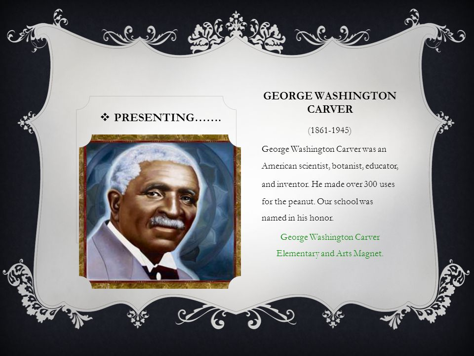 OUR CLASS PRESENTS….. Famous Black Americans