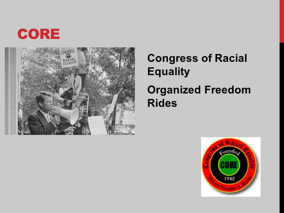 CORE Congress of Racial Equality Organized Freedom Rides