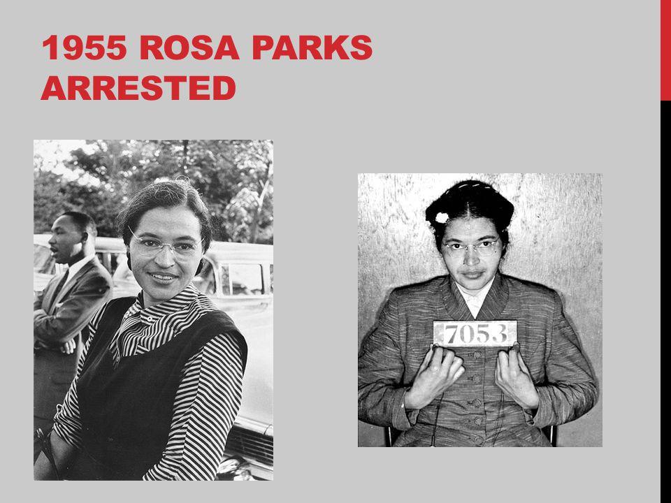 1955 ROSA PARKS ARRESTED