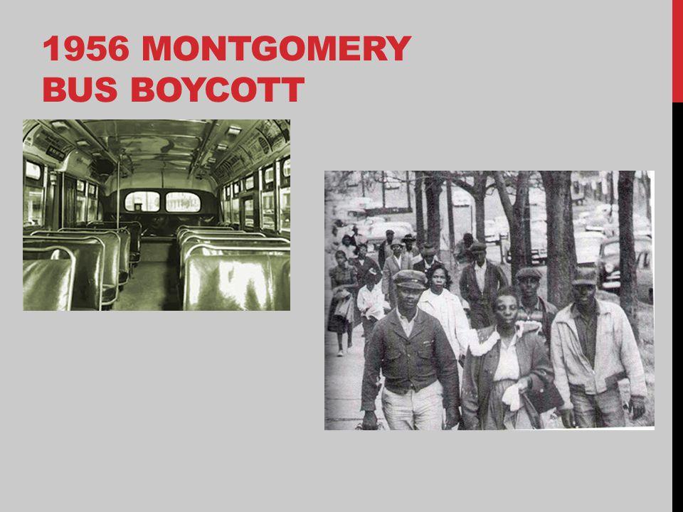 1956 MONTGOMERY BUS BOYCOTT