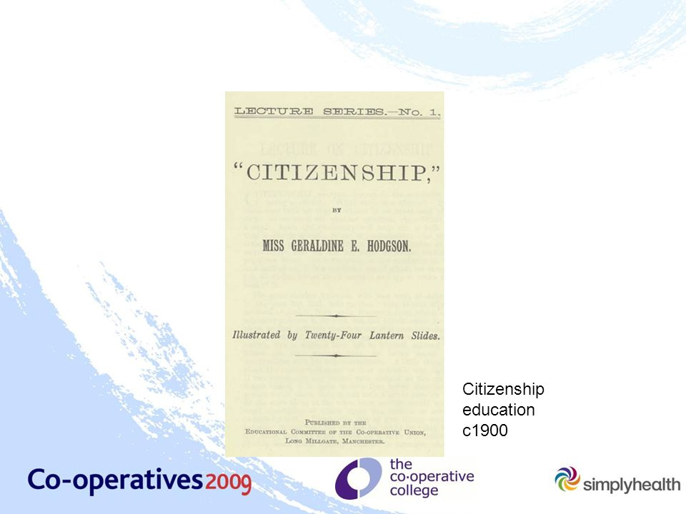 Citizenship education c1900