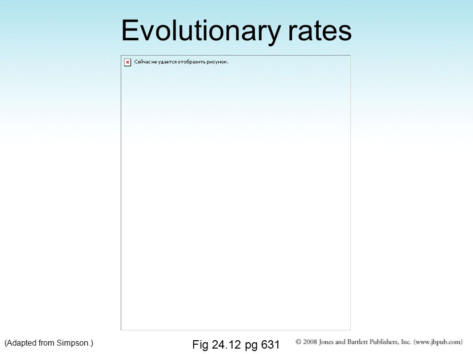 Evolutionary rates (Adapted from Simpson.) Fig 24.12 pg 631