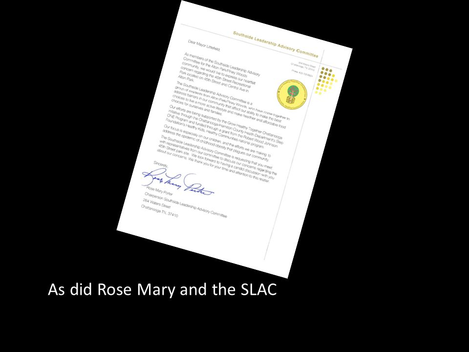 As did Rose Mary and the SLAC