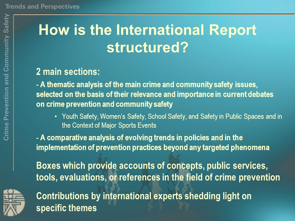 How is the International Report structured.