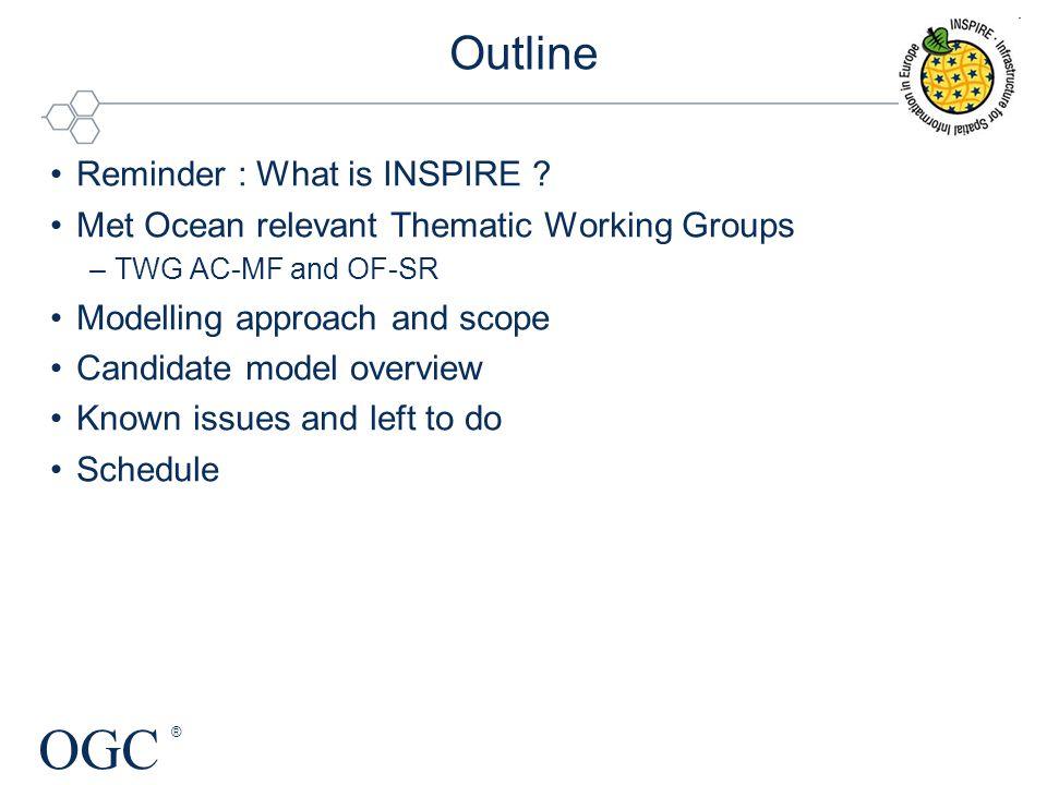 OGC ® Outline Reminder : What is INSPIRE .