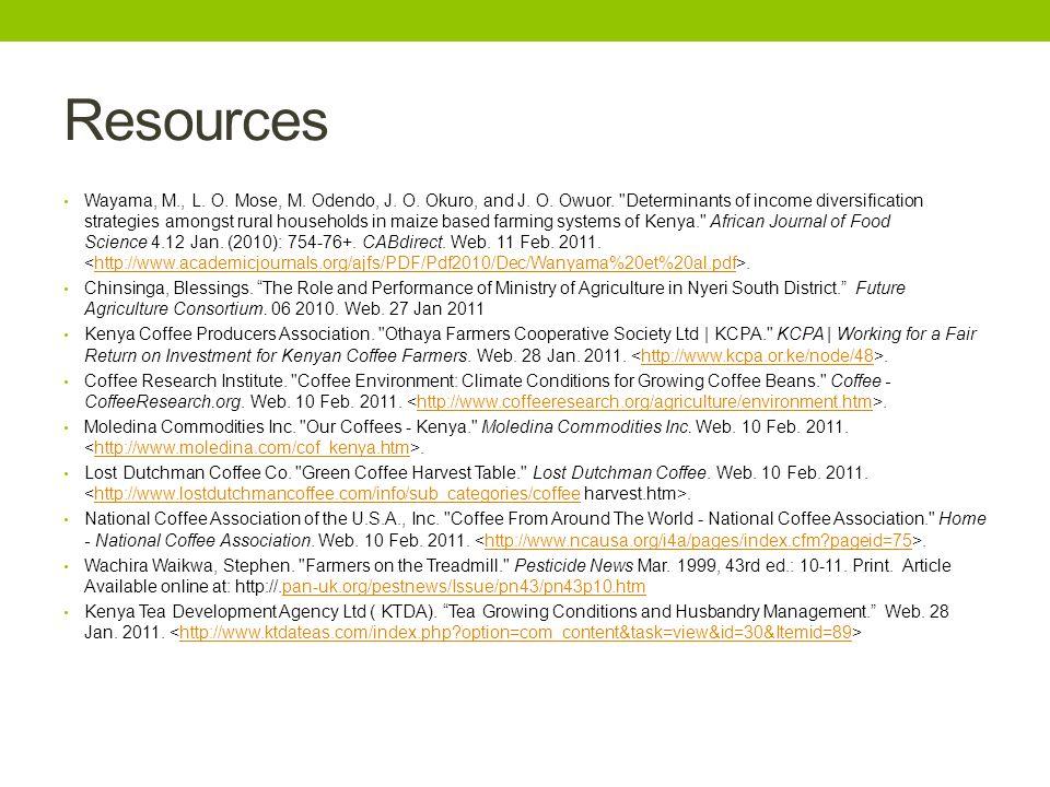 Resources Wayama, M., L. O. Mose, M. Odendo, J. O. Okuro, and J. O. Owuor.