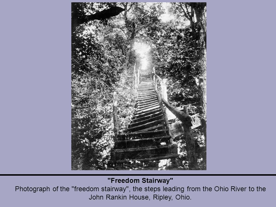 Freedom Stairway Photograph of the freedom stairway , the steps leading from the Ohio River to the John Rankin House, Ripley, Ohio.