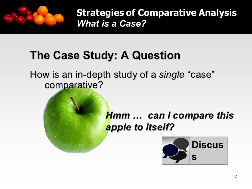 8 How To Do a Case Study  Not all case studies are comparative  To do a comparative case study, two basic rules must be followed: 1.