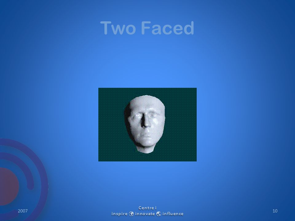 Two Faced 2007 Centre i inspire innovate  influence 10
