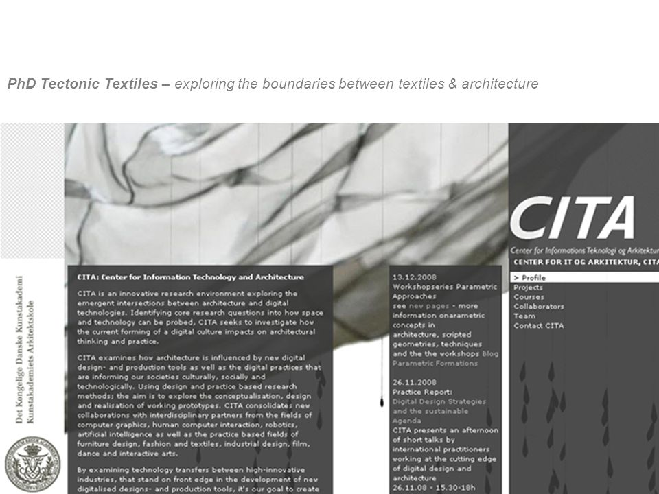 PhD Tectonic Textiles – exploring the boundaries between textiles & architecture