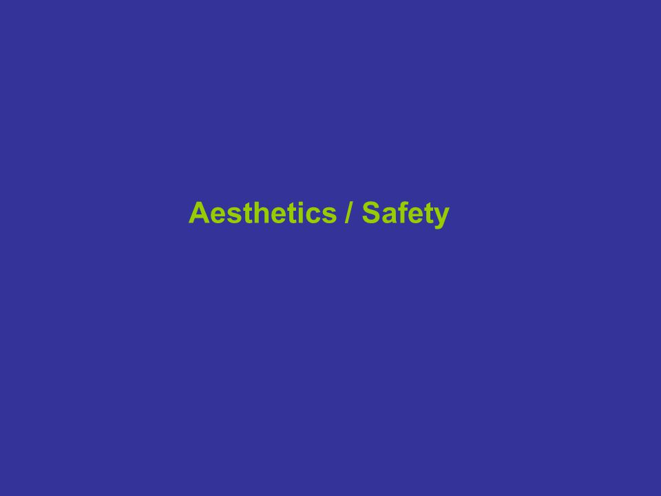 Aesthetics / Safety