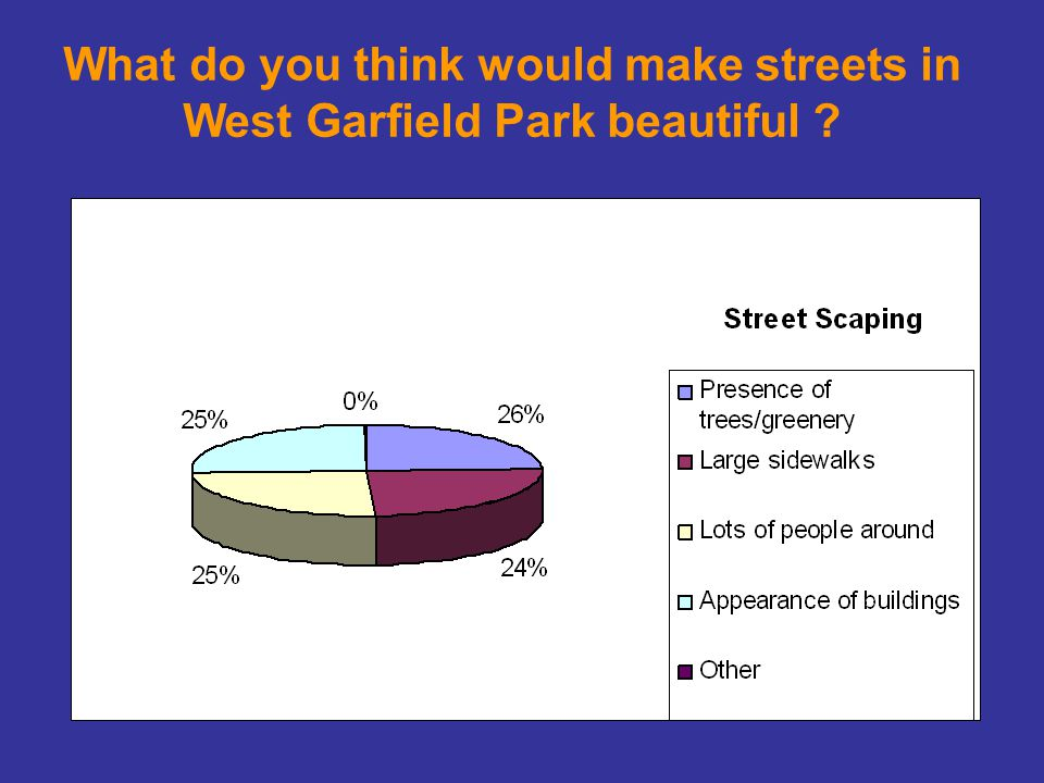 What do you think would make streets in West Garfield Park beautiful ?