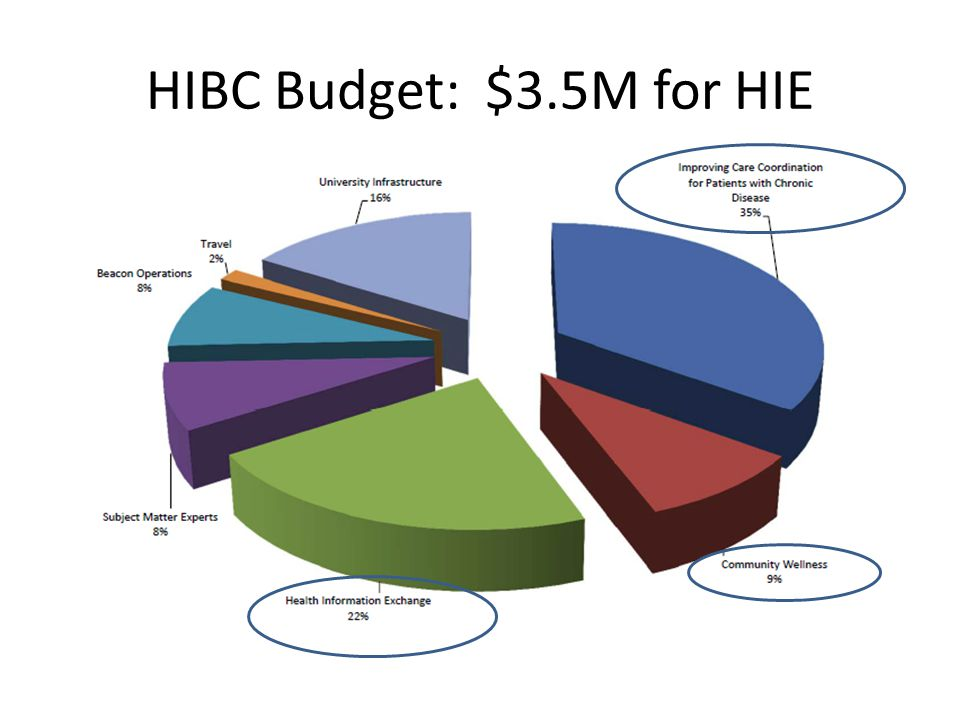 HIBC Budget: $3.5M for HIE