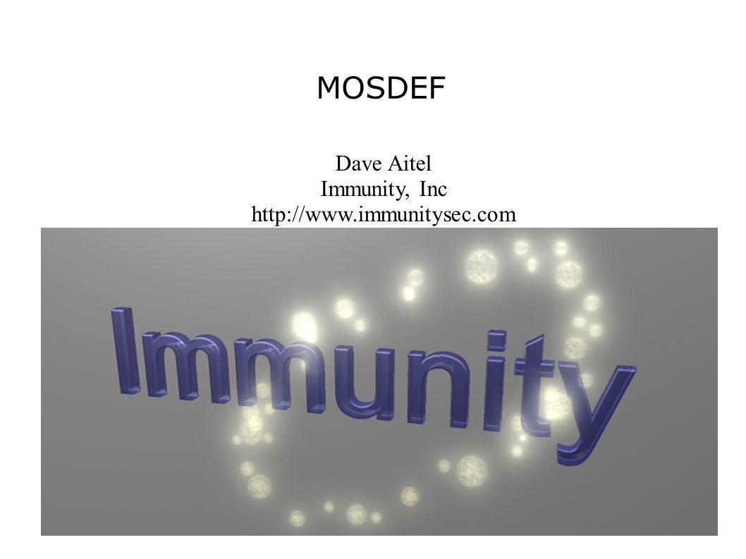 Who am I.● Founder, Immunity, Inc.