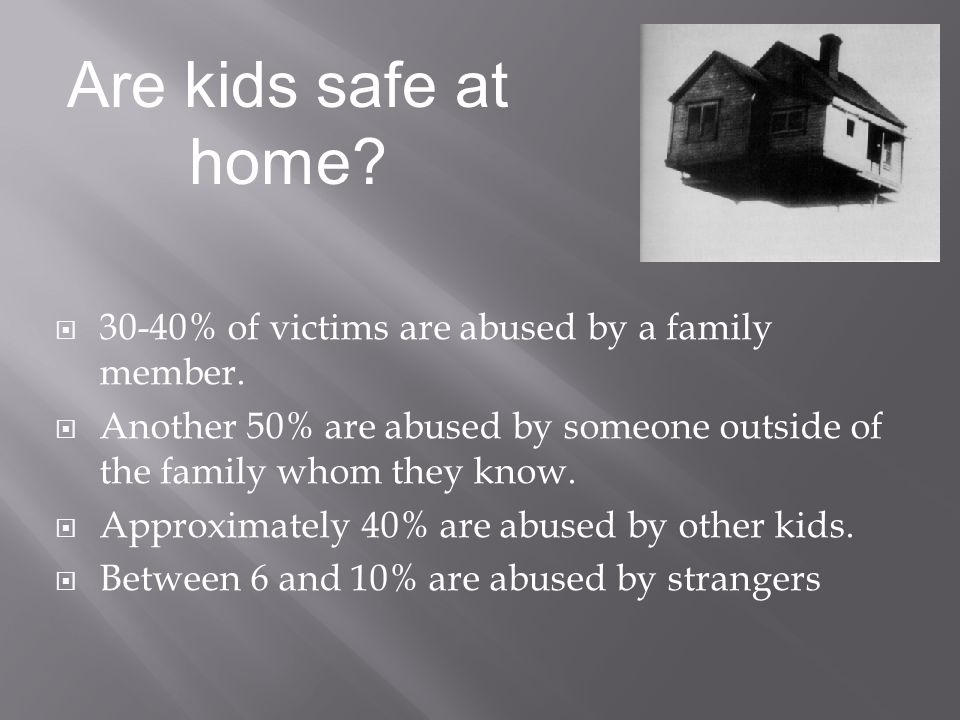 30-40% of victims are abused by a family member.