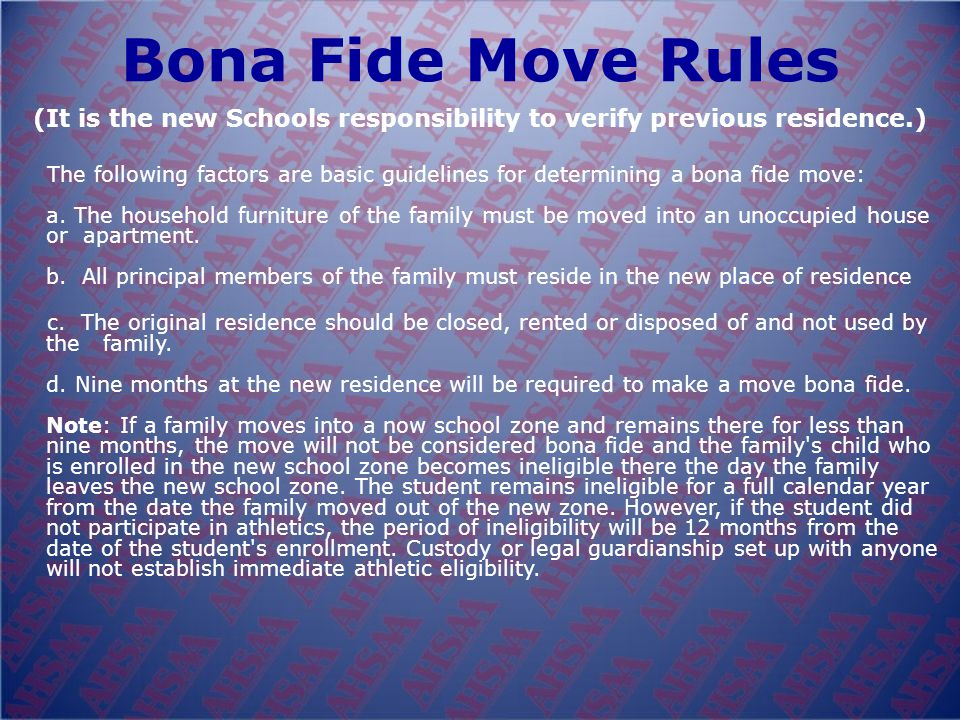 Transfer Rule A student is eligible in the school zone in which his/her parents reside (public, private or parochial schools). Any student who complet