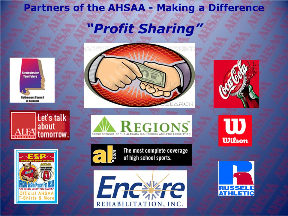 Partners of the AHSAA - Making a Difference Profit Sharing