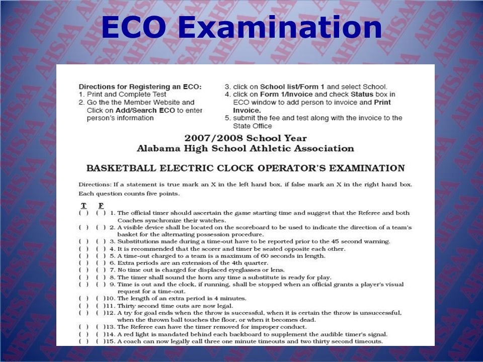 Registering Electric Clock Operators